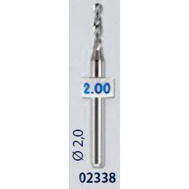 0202338-Broca Metal Duro 2,0mm Mod 2338 FLAG 9 - Contém 2 Peças  - ENTREGA IMEDIATA   PRODUTO EM PROMOÇÃO