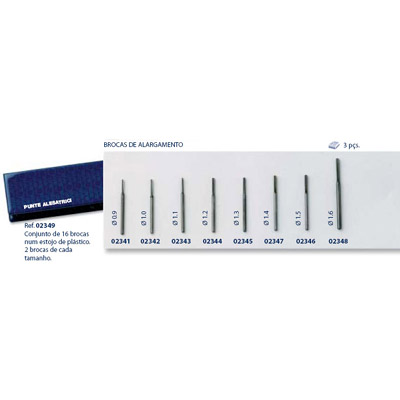 0202343 - Broca Aço p/ Alargar 1,1mm Mod 2343 FLAG 9  -Contém 3 Peças