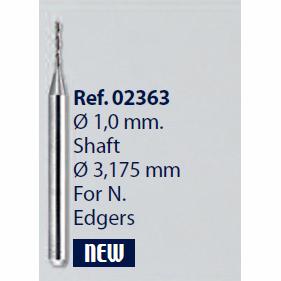 0202363-Broca Metal Duro 1,0mm Nidek Mod 2363 FLAG E - Contém 1 Peça  - SOB ENCOMENDA