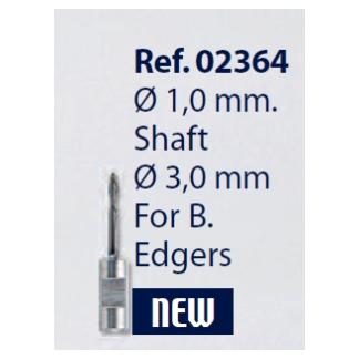 0202364 - Broca Metal Duro 1,0mm Briot Rotação SX Mod 2364 FLAG E  -Contém 1 Peça