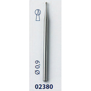 0202380 - Fresa 0.9mm Mod 2380 FLAG E  -Contém 3 Peças