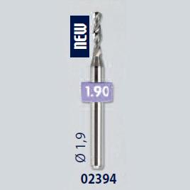 0202394 - Broca Metal Duro 1,9mm Mod 2394 FLAG E  -Contém 2 Peças