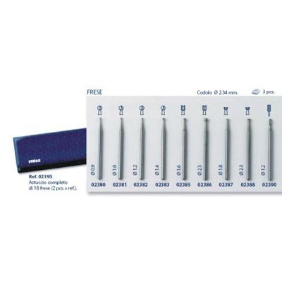 0202395-Fresa Kit 2 x 9 Modelos Mod 2395 FLAG E - Contém 18 Peças  - SOB ENCOMENDA