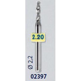 0202397-Broca Metal Duro 2,2mm Mod 2397 FLAG E - Contém 2 Peças  - ENTREGA IMEDIATA