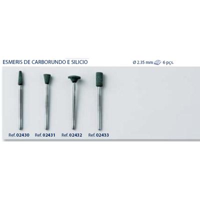 0202432 - Abrasivo Esmeril Silicio Mod 2432 FLAG E - Contém 6 Peças SOB ENCOMENDA