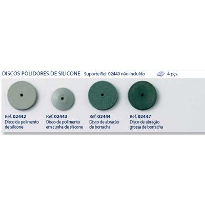 0202442-Disco Silicone Acabamento Circular Mod 2442 FLAG E - Contém 4 Peças  - ENTREGA IMEDIATA