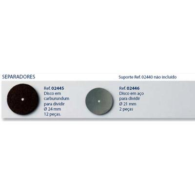 0202446 - Disco Corte Metal D=21mm Mod 2446 FLAG 9 - Contém 2 Peças