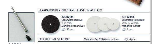 0202448-Disco Corte Metal D=16/19/22mm+Suporte Mod 2448 FLAG E - Contém 3 Peças  - ENTREGA IMEDIATA