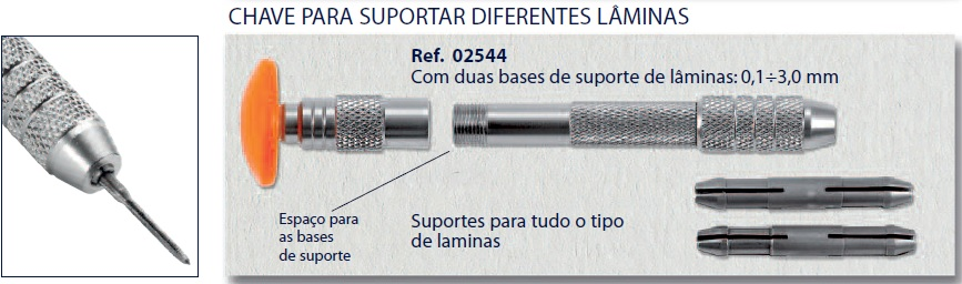 0202544 - Punho Pinça 0-3,0mm Mod 2544 - Contém 1 Peça