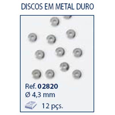 0202820 - Disco Metal Duro Mod 2820 FLAG 9 - Contém 12 Peças
