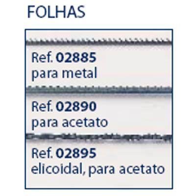 0202895 - Folha_Serra Acetato Helicoidal Mod 2895 FLAG 9  -Contém 24 Peças