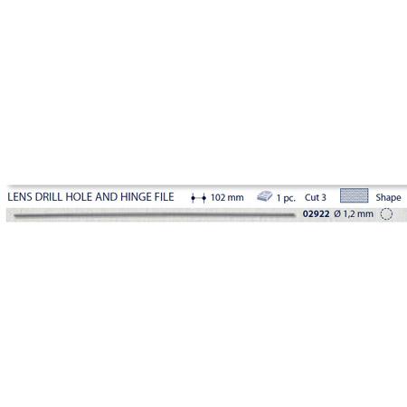 0202922-Lima Cilíndrica Lentes Grão 3 D=1,2 mm Mod 2922 FLAG E - Contém 1 Peça  - SOB ENCOMENDA