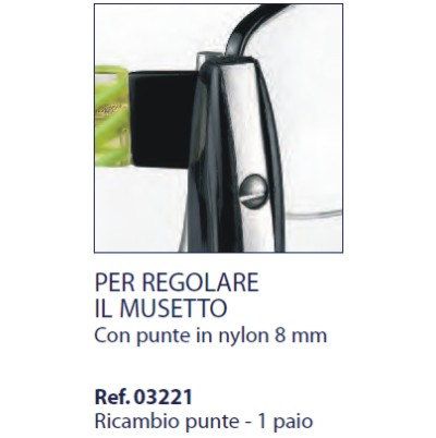 0203221 - Alicate 02 Reposição 0203220 Nylon Mod 3221  -Contém 2 Peças