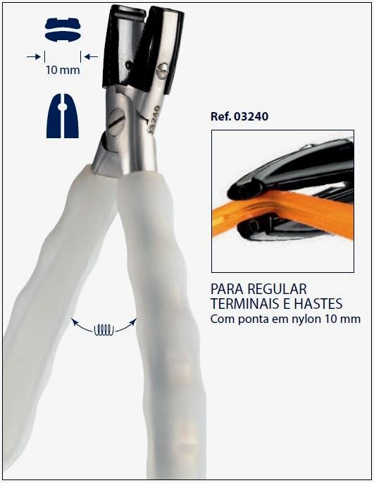 0203240 - Alicate Arredonda Acetato Metal Mod 3240 FLAG E - Contém 1 Peça SOB ENCOMENDA