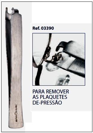 0203390 - Pinça Extratora Plaqueta Encaixe Mod 3390 - Contém 1 Peça