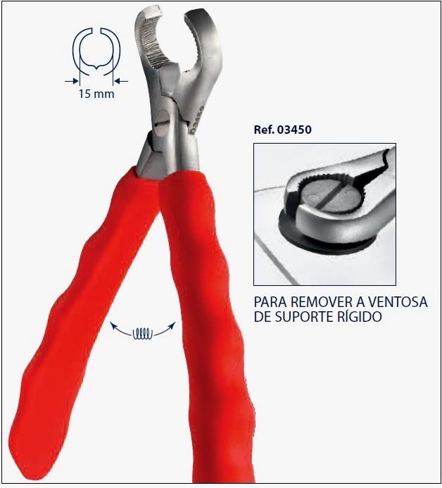 0203450 - Alicate 02 Remover Ventosa Rigida Mod 3450  -Contém 1 Peça