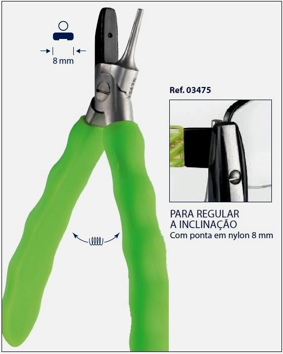 0203475 - Alicate 02 Lateral Arm Fio Nylon Mod 3475  -Contém 1 Peça