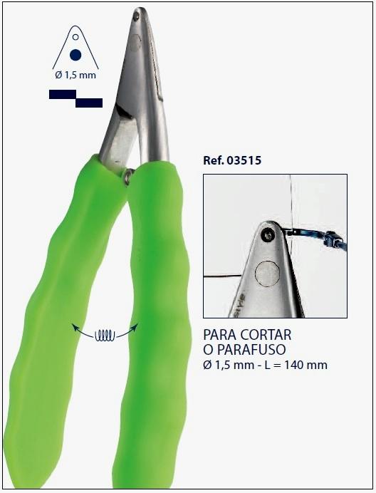 0203515 - Alicate 02 Corte Parafuso Griff até M1,5 mm Mod 3515 FLAG E  -Contém 1 Peça
