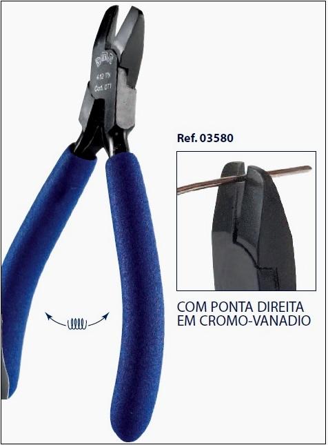 0203580 - Alicate 02 Corte Cromo-Vanadium Lateral Mod 3580 FLAG E  -Contém 1 Peça
