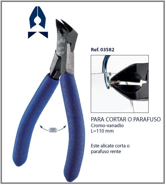 0203582-Alicate Corte Cromo-Vanadium Ponta Inclinada Mod 3582 FLAG E - Contém 1 Peça  - SOB ENCOMENDA