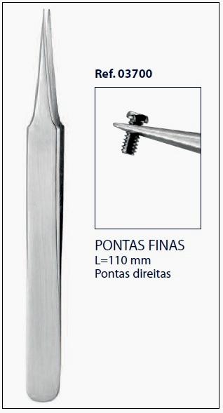 0203700 - Pinça Pontas Finas Mod 3700 - Contém 1 Peça