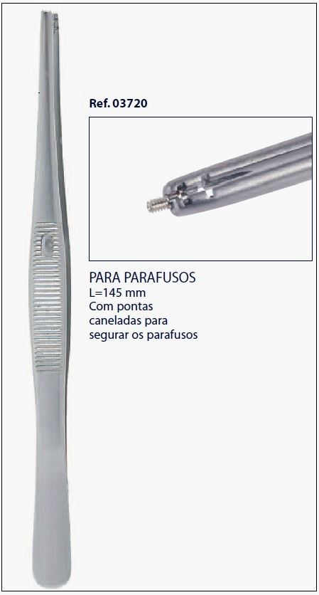 0203720 - Pinça Ponta Recortada Agarra Parafuso Mod 3720 - Contém 1 Peça