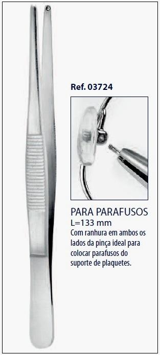 0203724 - Pinça 02 Ponta Recortada Agarra Parafuso Peq Mod 3724  -Contém 1 Peça