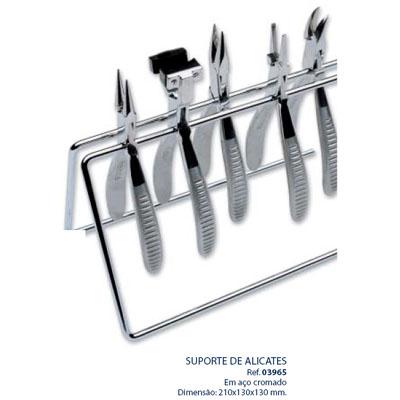 0203965-Organizador Suporte Alicate Metal Cromado Mod 3965 FLAG E - Contém 1 Peça  - SOB ENCOMENDA