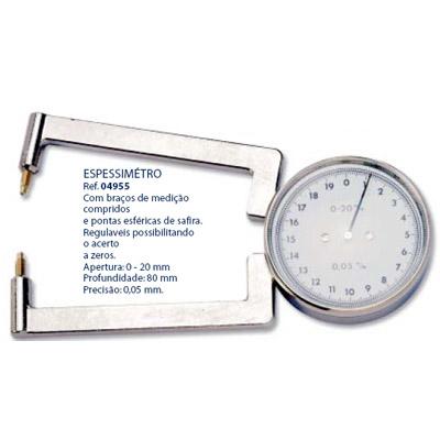0204955 - Espessímetro 0-20mm Mod 4955 FLAG E - Contém 1 Peça SOB ENCOMENDA