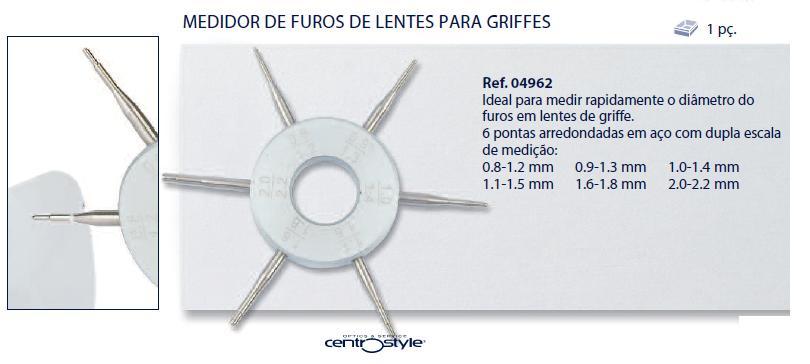0204962-Medidor de Furo Mod 4962 FLAG E - Contém 1 Peça  - SOB ENCOMENDA