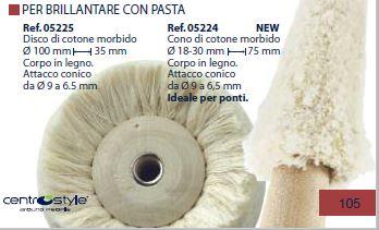 0205224-Disco Cone de Algodão Lustrar Mod 5224 FLAG 9 - Contém 1 Peça  - ENTREGA IMEDIATA   PRODUTO EM PROMOÇÃO