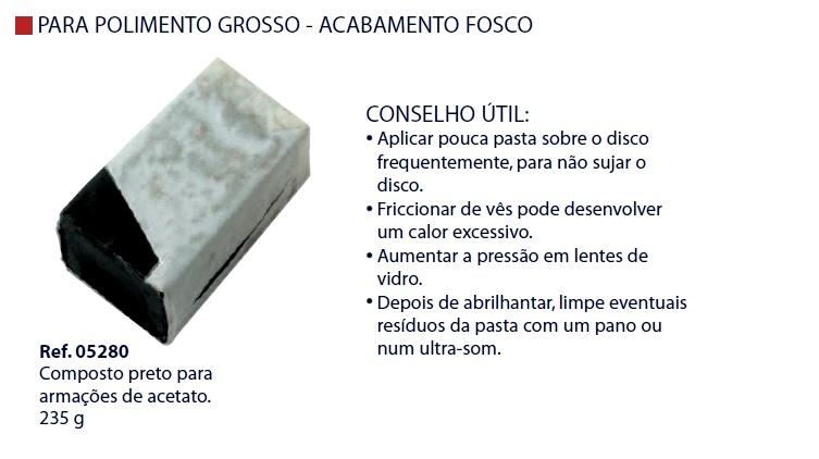 0205280 - Pasta 02 Polir Bege p/Acetato Mod 5280 FLAG O  -Contém 1 Peça