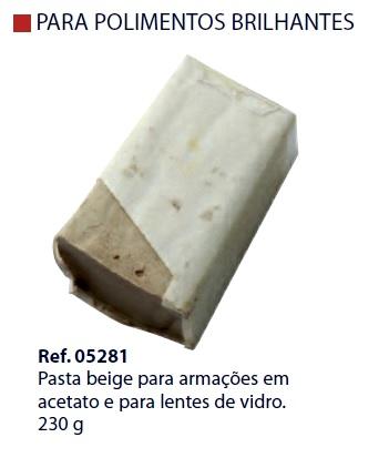 0205281 - Pasta 02 Polir/Lustrar Bege p/Acetato/Cristal Mod 5281 FLAG O  -Contém 1 Peça