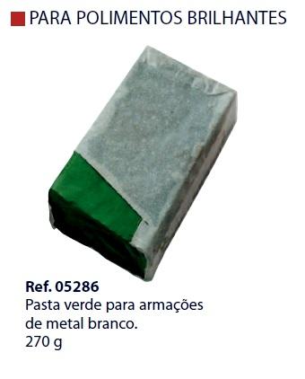 0205286 - Pasta Polir/Lustrar Verde p/Metal Branco Mod 5286 FLAG O FLAG E - Contém 1 Peça SOB ENCOMENDA
