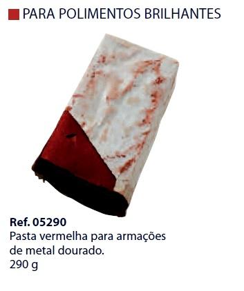 0205290 - Pasta Polir/Lustrar Vermelha p/Metal Dourado Mod 5290 FLAG O FLAG 9  -Contém 1 Peça