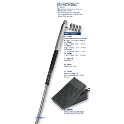 0205570 - Furadeira Suporte Telescópio Mod 5570 FLAG E - Contém 1 Peça SOB ENCOMENDA