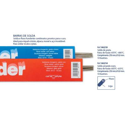 0206210 - Solda Prata Mod 6210 FLAG E - Contém 10 Peças SOB ENCOMENDA