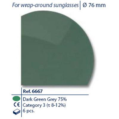 0206667 - Lente 02 CR39 B8 G15 75% Mod 6667 FLAG E  -Contém 6 Peças