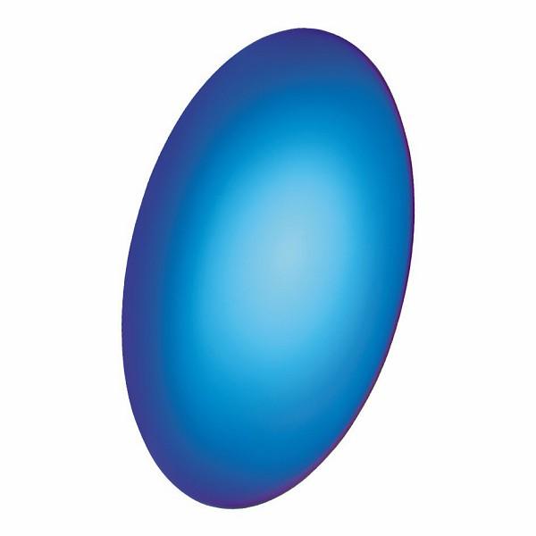 0206680 - Lente 02 CR39 B6 Espelhada Azul Mod 6680 FLAG E  -Contém 2 Peças