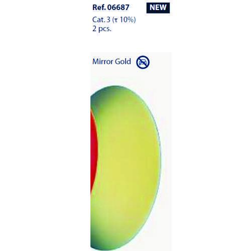 0206687 - Lente CR39 B6 Espelhada Dourado Mod 6687 FLAG E - Contém 2 Peças SOB ENCOMENDA