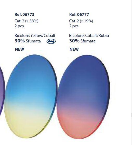 0206773 - Lente CR39 B6 Bicolor Azul/Amarela Mod 6773 FLAG E - Contém 2 Peças SOB ENCOMENDA