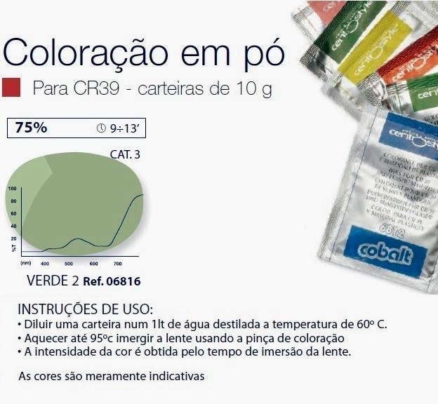 0206816 - Colorante Pó Verde 2 Mod 6816 FLAG 9 - Contém 1 Peça