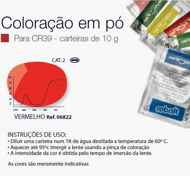0206822 - Colorante Pó Vermelho Mod 6822 FLAG 9 - Contém 1 Peça