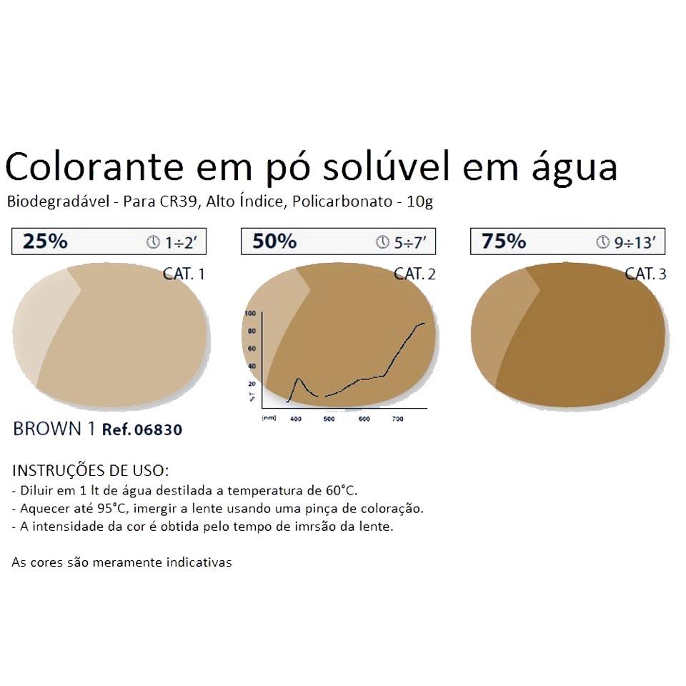 0206830 - Colorante Pó Biodegradavel Marrom 1 Mod 6830 - Contém 1 Pacote