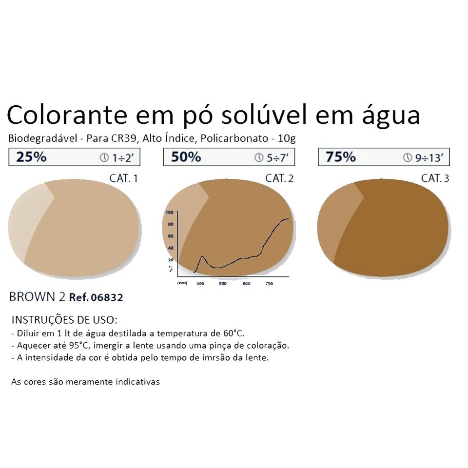 0206832 - Colorante Pó Biodegradavel Marrom 2 Mod 6832 - Contém 1 Pacote