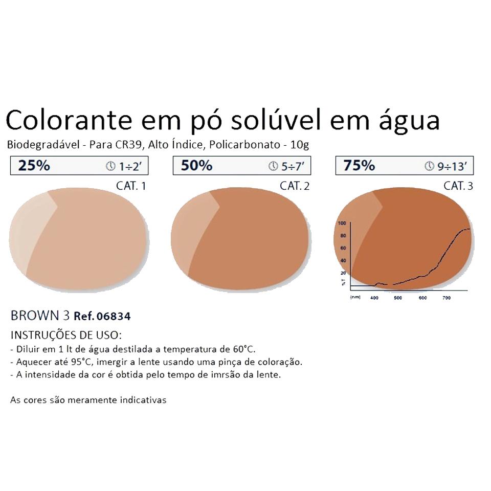 0206834 - Colorante Pó Biodegradavel Marrom 3 Mod 6834 FLAG 9 - Contém 1 Pacote