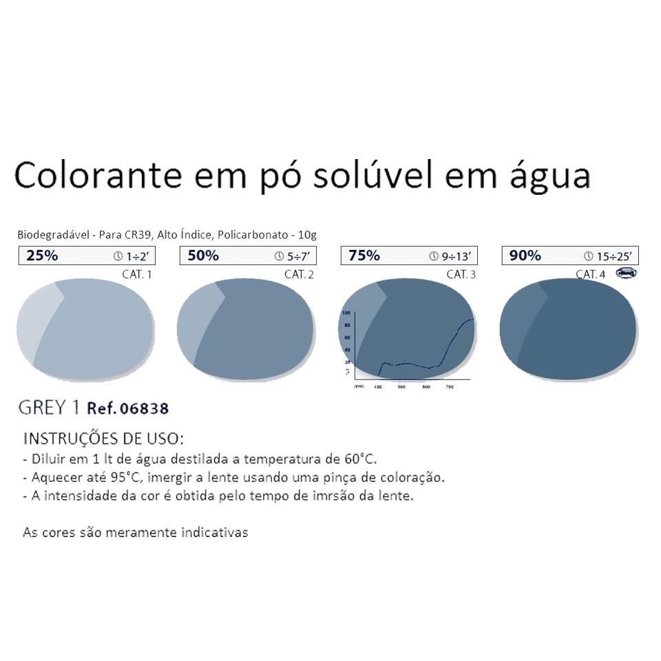 0206838 - Colorante Pó Biodegradavel Cinza 1 Mod 6838 FLAG E - Contém 1 Pacote SOB ENCOMENDA