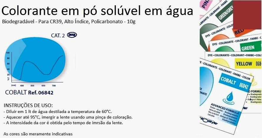 0206842 - Colorante Pó Biodegradavel Cobalto Mod 6842 FLAG E - Contém 1 Pacote SOB ENCOMENDA