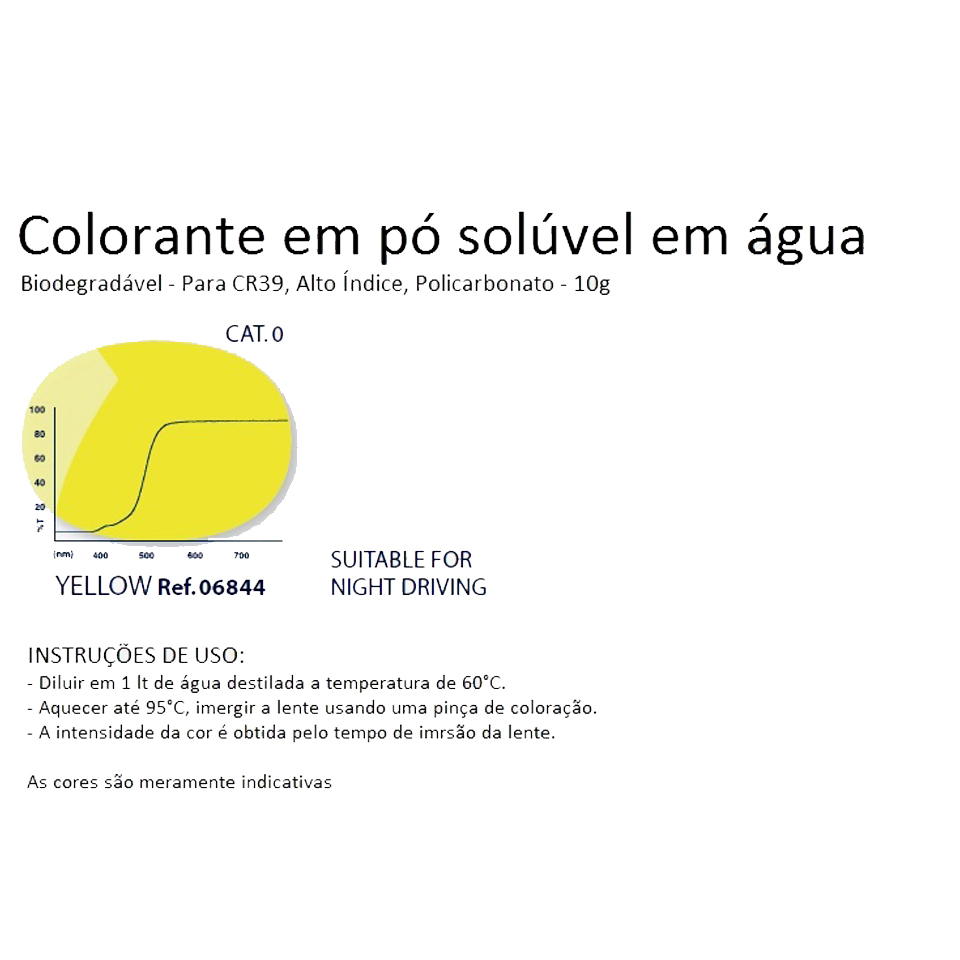0206844 - Colorante Pó Biodegradavel Amarelo Mod 6844 FLAG E - Contém 1 Pacote SOB ENCOMENDA