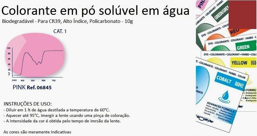 0206845 - Colorante Pó Biodegradavel Rosa Mod 6845 FLAG E - Contém 1 Pacote SOB ENCOMENDA